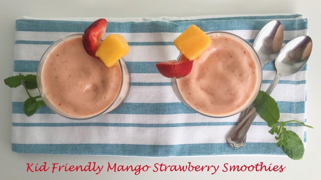 Strawberry Mango Smoothie Secret Ingredient Kid Friendly Miami Moms Blog