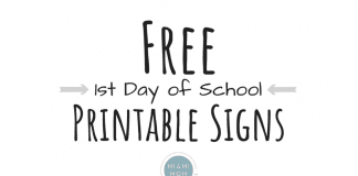 first Day of school printable signs free miami mom collective