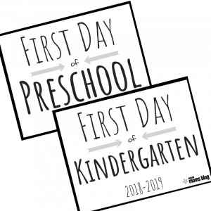 first day of school printable signs miami moms blog