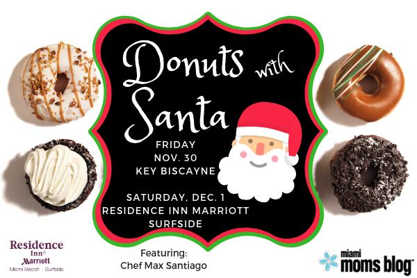 Donuts with Santa Miami Moms Blog Key Biscayne Surfside