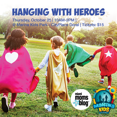 Miami Moms BLog Hanging with heroes doral city place marina kids