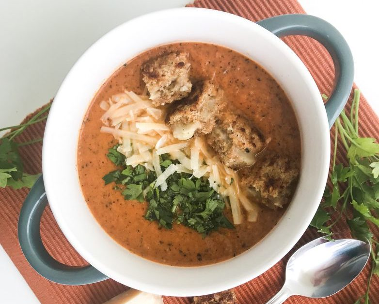 Homemade Tomato Soup with Grilled Cheese Croutons Whitney Khan Contributor Miami Moms Blog