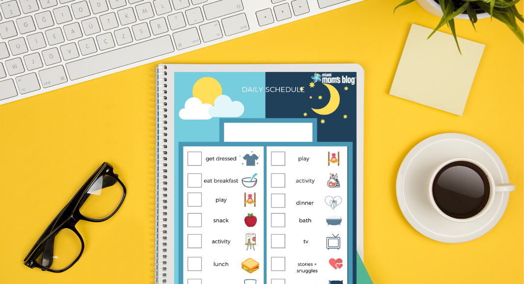 FREE Printable Daily Schedule Template | Miami Moms Blog