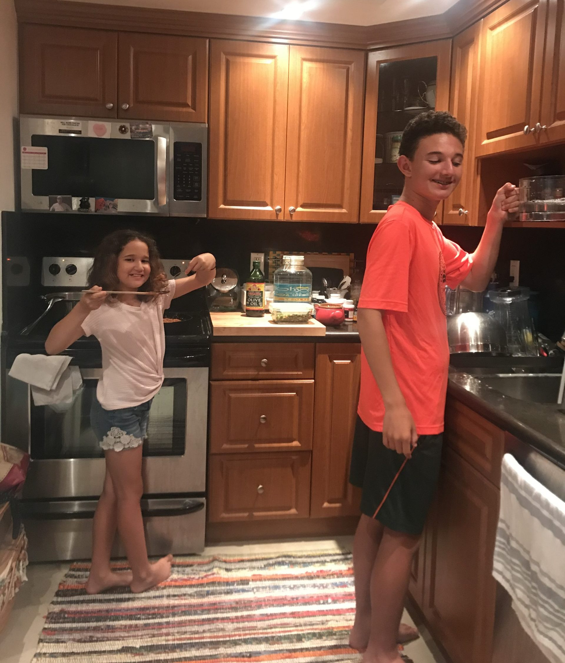 Adita's kids in the kitchen (Parenting: The Ups, Downs, and All the Way Arounds Adita Lang Contributor Miami Mom Collective)