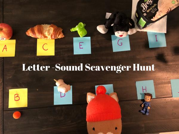 Letter-Sound Scavenger Hunt Cindy Herdé Contributor Miami Moms Blog