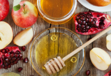 Apples, honey, and pomegranate (Rosh Hashanah: How to Celebrate the Jewish New Year With Kids Bella Behar Contributor Miami Mom Collective)