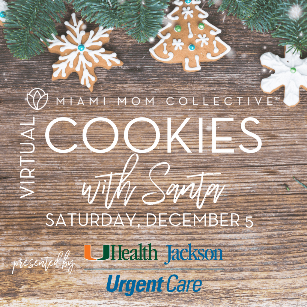 Miami Mom Collective Cookies with Santa Miami Holiday Events 2020