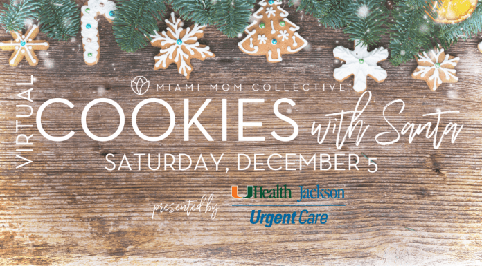 Miami Mom collective Cookies with Santa 2020