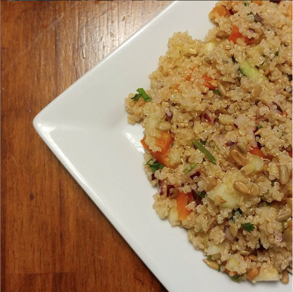 A plate of quinoa salad (Recipes: 3 Inspirations to Help You Keep Your New Year's Resolutions Janeris Marte Contributor Miami Mom Collective)