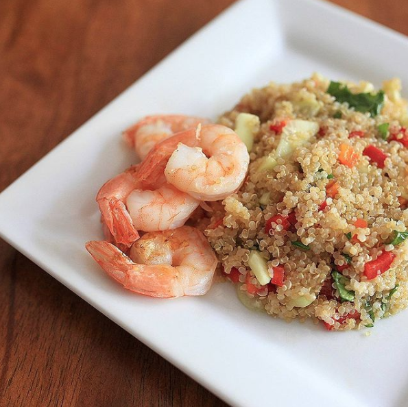 Janeris' famous quinoa salad (Recipes: 3 Inspirations to Help You Keep Your New Year's Resolutions Janeris Marte Contributor Miami Mom Collective)