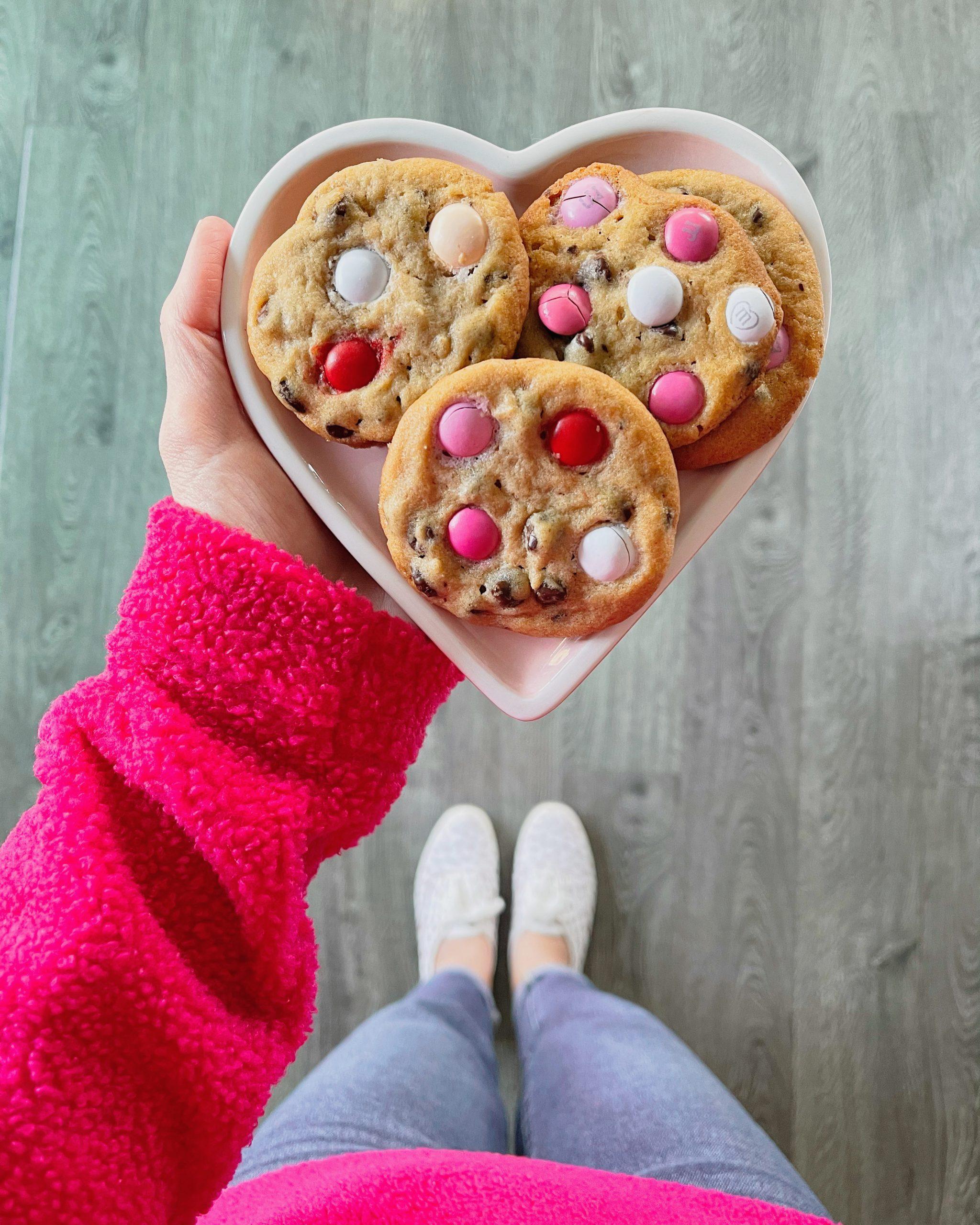 Pink & white M&M cookies (Becky Salgado Contributor Miami Mom Collective)