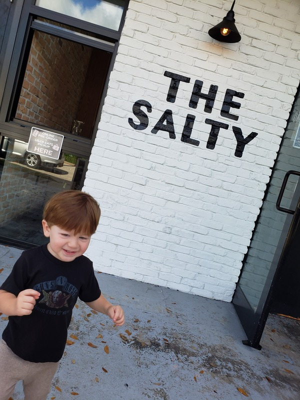 Sandra's son at The Salty (Raising Vegan Kids: Where and What to Eat on the Go Sandra Jacquemin Contributor Miami Mom Collective)
