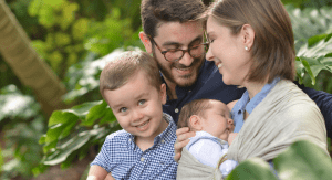 Brittany Aquart, Miami Mom Collective Contributor, with her husband and two sons. (Miami Mom Collective Welcomes MIA Mom Brittany Aquart)
