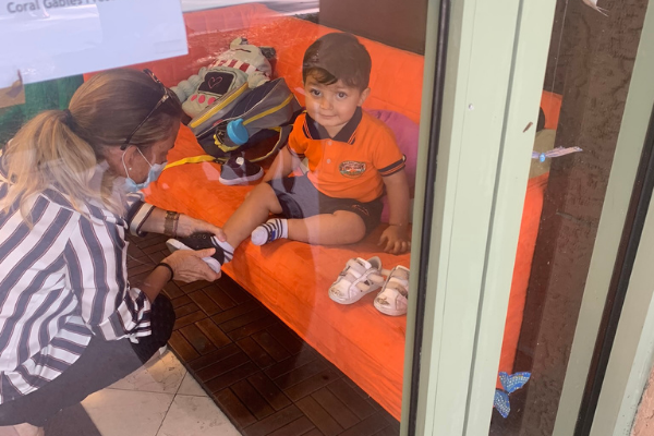 Bella's son following new protocol at his new preschool (Daycare & Preschool During the Ongoing Pandemic Bella Behar Contributor Miami Mom Collective)
