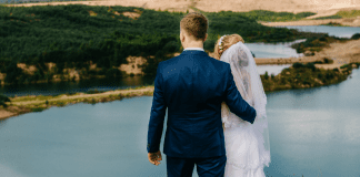 A bride and groom (Husband Appreciation Day: Celebrate the Hubbies Lorena Lougedo Contributor Miami Mom Collective)