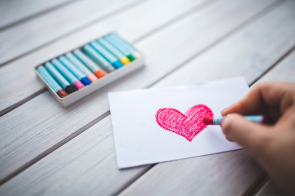 A hand-drawn heart (Lorena Lougedo Contributor Miami Mom Collective)