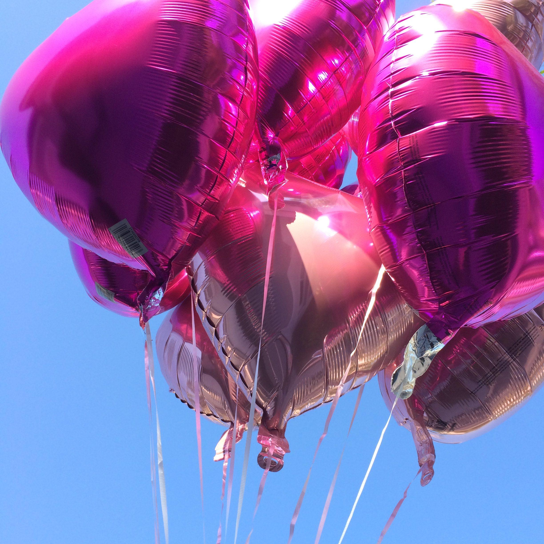 Pink heart balloons (Valentine's Day: Fun, Family-Friendly Ideas Becky Salgado Contributor Miami Mom Collective)