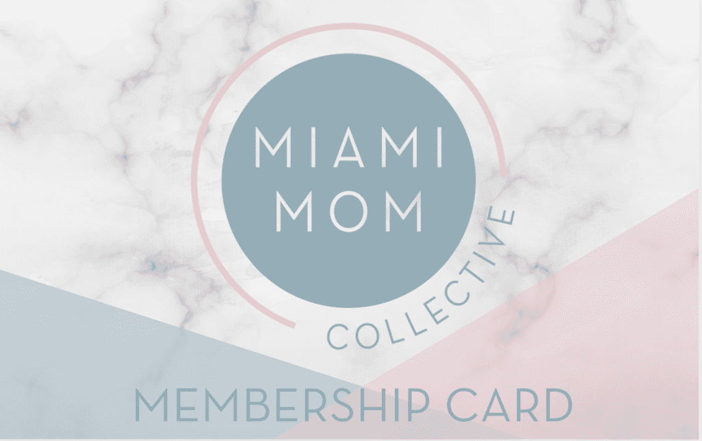 The Miami Mom Collective membership card (Minerva Roca Contributor)