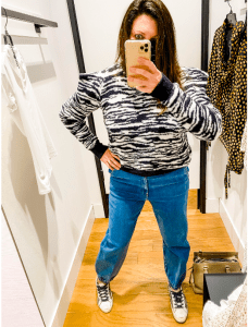 High waisted denim joggers (Spring Fashion Trends to Replace My Favorite Pandemic Sweatpants Meredith Kallaher Contributor Miami Mom Collective)
