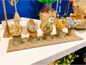 A display of statement rings (Meredith Kallaher Contributor Miami Mom Collective)