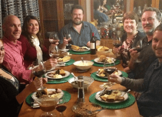 Alisa and her family enjoying a meal on St. Patrick's Day (Happy St. Patrick's Day: My Husband's 3 Day Corned Beef Brisket Alisa Britton Contributor Miami Mom Collective)