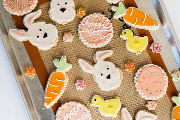 Easter cookies (Celebrating Easter With A Creative Egg Hunt Jessica Alvarez-Ducos Contributor Miami Mom Collective)