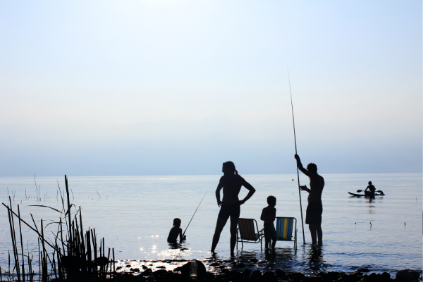 A family fishing together (Jessica Alvarez-Ducos Contributor Miami Mom Collective)