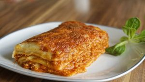 A plate of dairy-free lasagna (Valentine's Dinner: An Allergy-Friendly Menu Gabriela Morales Contributor Miami Mom Collective)