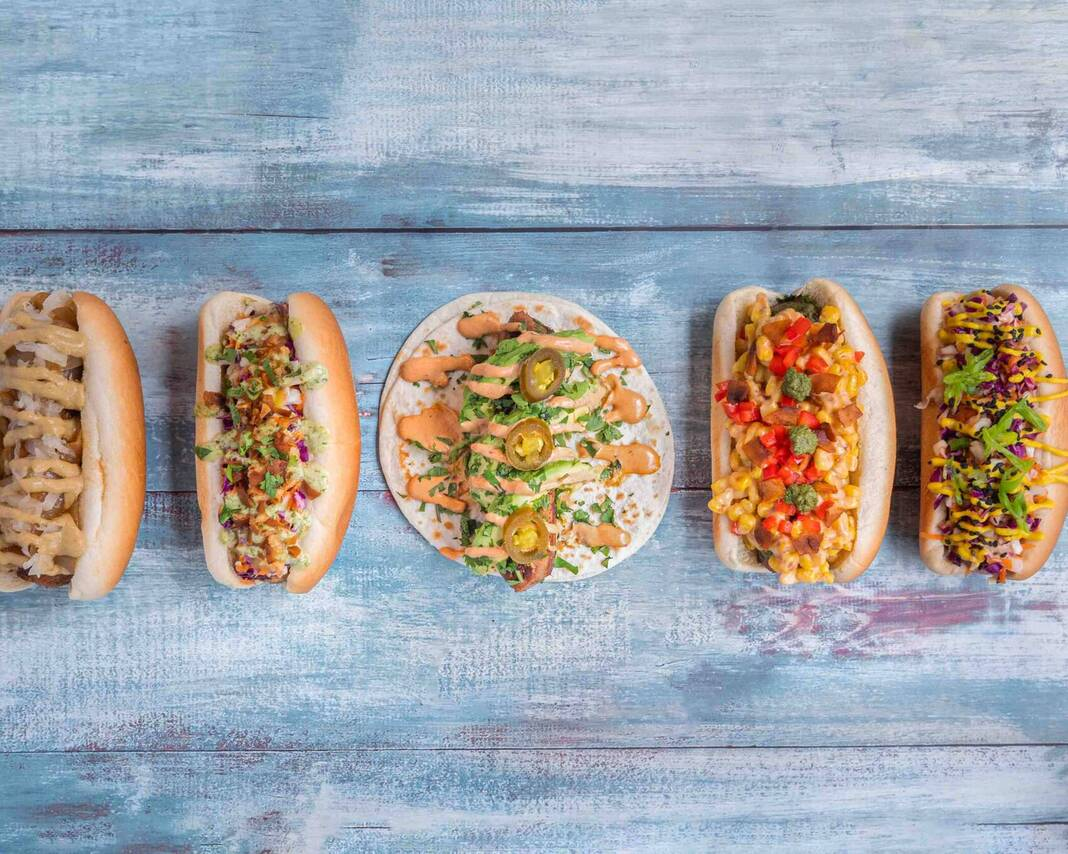 Vegan wraps and hot dogs (Raising Vegan Kids: Where and What to Eat on the Go Sandra Jacquemin Contributor Miami Mom Collective)