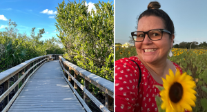Everglades National Park and Vanessa in a sunflower field (Instagram Worthy: The Top 10 Most Instagrammable Places in Miami Vanessa Santamaria Contributor Miami Mom Collective)