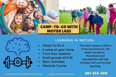 Motor Labs Camp-to-Go Closing the Gaps (Lynda Lantz Contributor Miami Mom Collective)