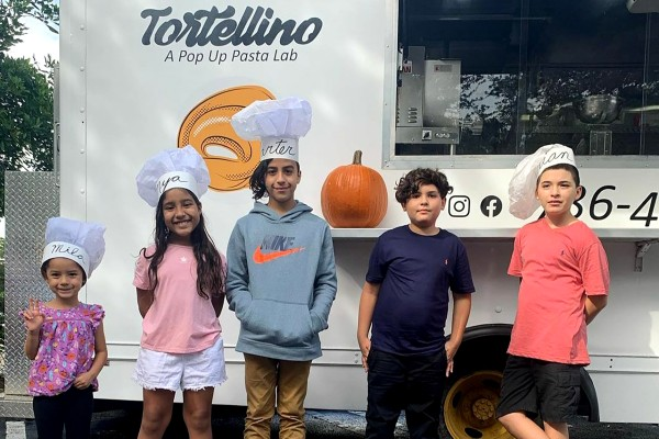 Kids at the Tortellino food truck (Love Where You Live: Why I Love Living in South Miami Kristen Llorca Contributor Miami Mom Collective)