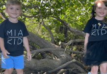 Dianna's kids wearing their MIA KID shirts (Love Where You Live: Why I Love Living in Cutler Bay Dianna Hill Contributor Miami Mom Collective)