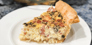 A slice of homemade quiche (Easter Brunch Recipe: Quiche Daniela Muir Contributor Miami Mom Collective)