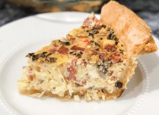 A slice of homemade quiche (Easter Brunch Recipe: Quiche Daniela Muir Contributor Miami Mom Collective)