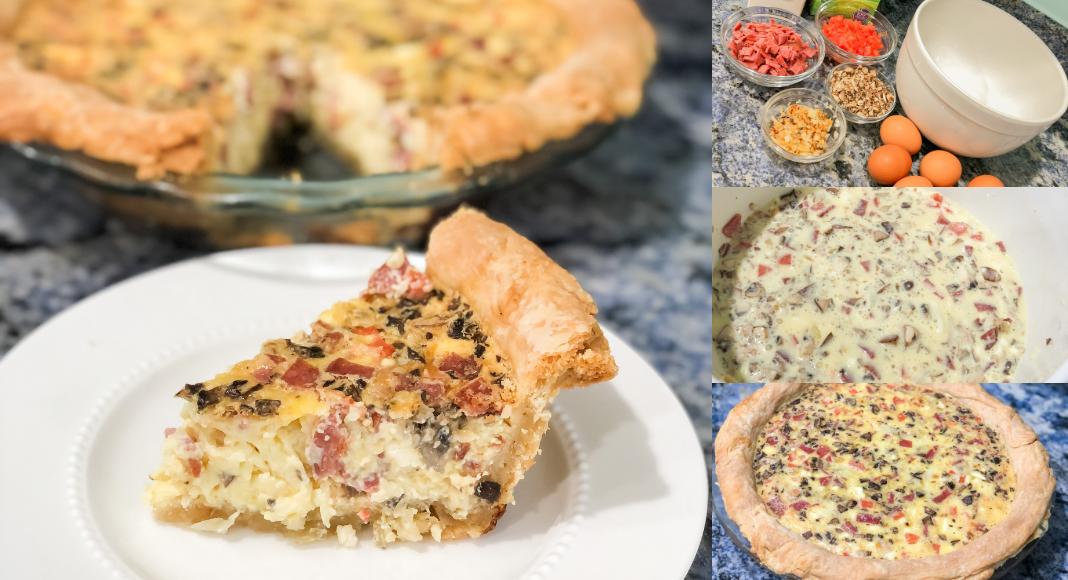 Assembling the quiche (Easter Brunch Recipe: Quiche Daniela Muir Contributor Miami Mom Collective)