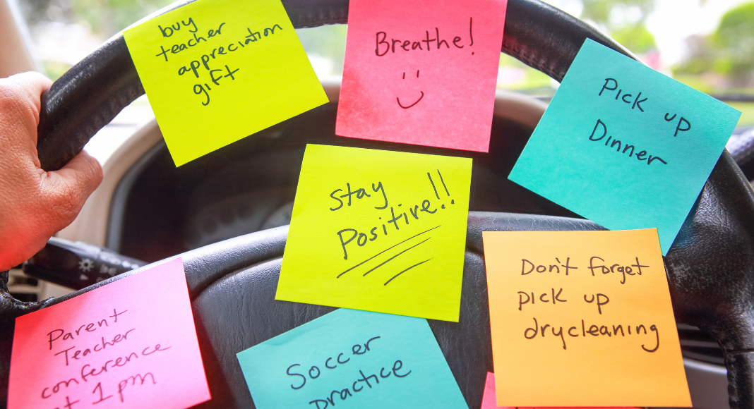 A bunch of sticky notes of tasks to do (It Takes a Village: A Single Mom's Perspective of Making It All Happen Adita Lang Contributor Miami Mom Collective)