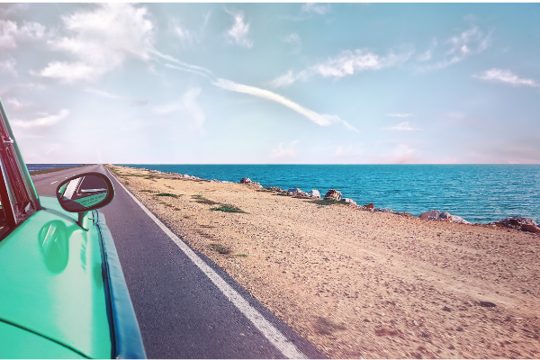 Image: A car on a scenic drive (Car Dates: Let's Get Driving! Lorena Lougedo Contributor Miami Mom Collective)