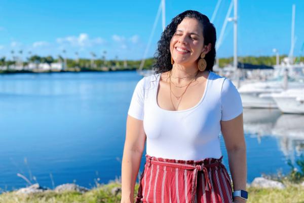 Zoe enjoying the sun at a local marina (Zoe Costa Contributor Miami Mom Collective)