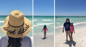 Vanessa and her daughters at the beach (Let's Go Places! 5 Trips to Take Now Vanessa Santamaria Contributor Miami Mom Collective)