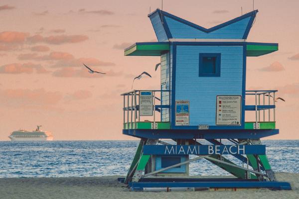 A lifeguard stand on Miami Beach (Zoe Costa Contributor Miami Mom Collective)