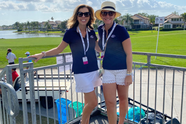 Michelel and one of her teammates (Michelle Boggs: A Miami Leader Invested in our Future Ann Keil Dux Contributor Miami Mom Collective)