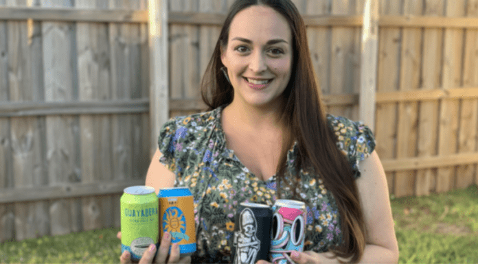 Alisa with a few cans of her favorite spring beers (Cheers to Spring: My Top Brews for National Beer Day, Alisa Britton, Contributor, Miami Mom Collective)