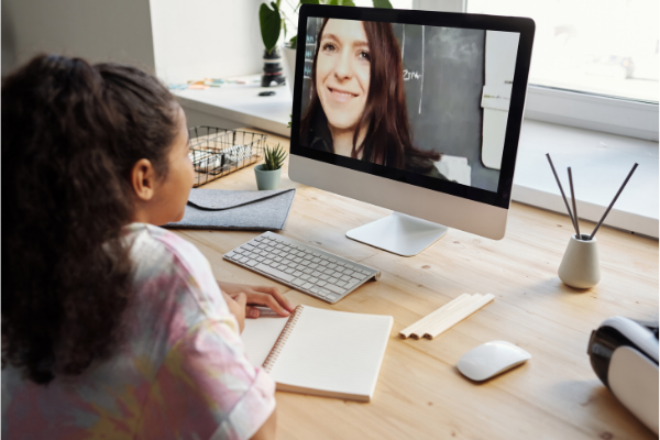 A student learning virtually (Teacher Appreciation Week: Let's Show Appreciation Lorena Lougedo Contributor Miami Mom Collective)