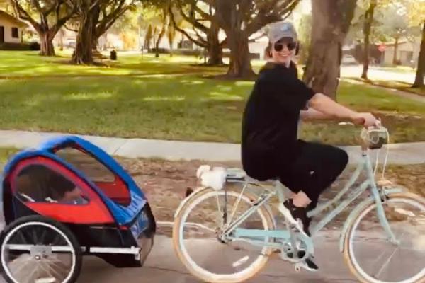 Jacqueline riding her bike (Love Where You Live: Why I Love Living in Miami Lakes Jacqueline Jebian Garcia Contributor Miami Mom Collective)