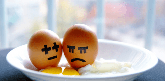 Two eggs with sad faces drawn onto them (An Open Letter to Moms Who Hate Cooking Becky Gonzalez Contributor Miami Mom Collective)