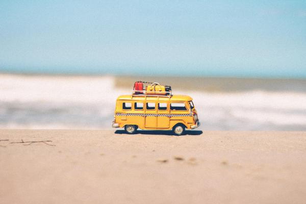 A toy minibus on the beach (Jessica Alvarez-Ducos Contributor Miami Mom Collective)