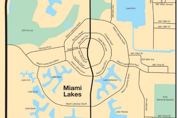 A map of Miami Lakes (Love Where You Live: Why I Love Living in Miami Lakes Jacqueline Jebian Garcia Contributor Miami Mom Collective)