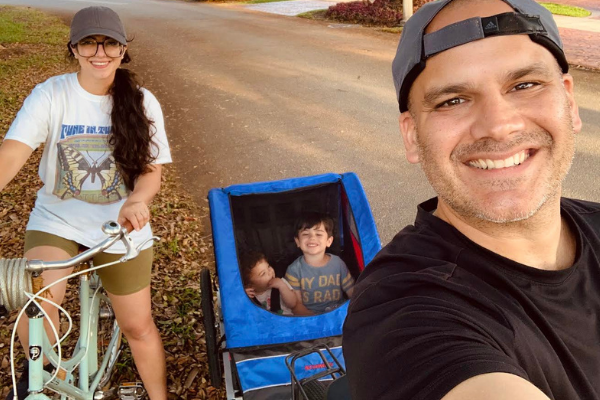 Jacqueline and her family enjoying the bike trails (Love Where You Live: Why I Love Living in Miami Lakes Jacqueline Jebian Garcia Contributor Miami Mom Collective)