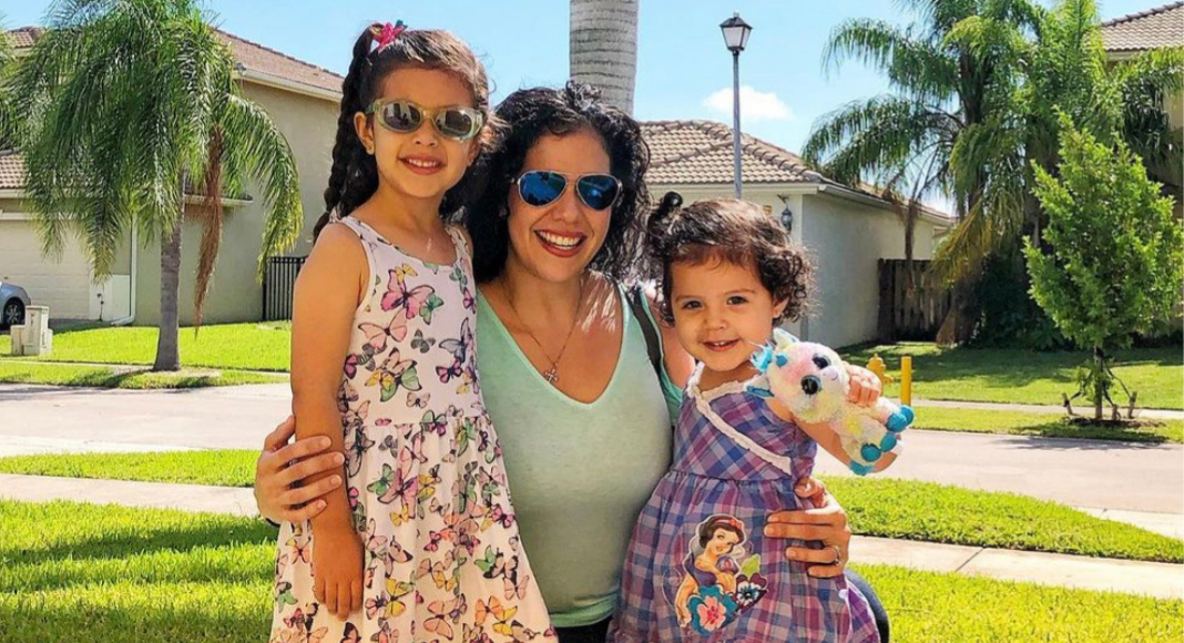 Zoe with her daughters (Moving to Miami: What I Wish I Knew Zoe Costa Contributor Miami Mom Collective)